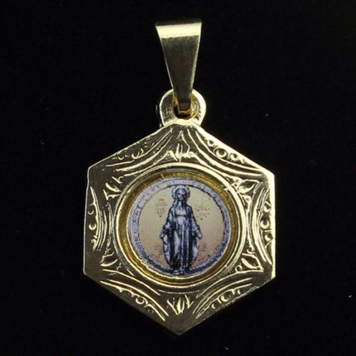 13fdb440d8cf3 medalha de nossa senhora das graças folheada a ouro 18k com. Carregando zoom .