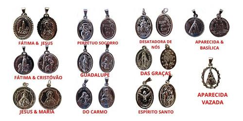 medalha de nossa senhora /santos catolicos niquel 4 unidades