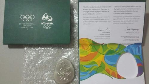 medalha de participação rio 2016