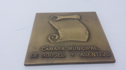 medalha em bronze câmara municipal de sousel alentejo.