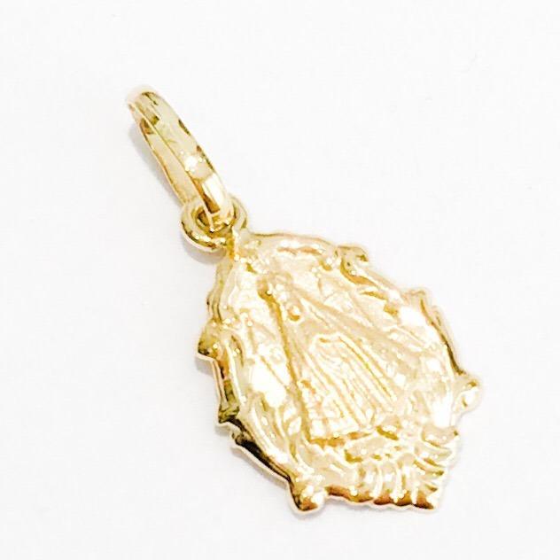 Medalha Em Ouro18k Pingente Santa Nossa Senhora Aparecida - R  95,90 em  Mercado Livre 7f9200ca87