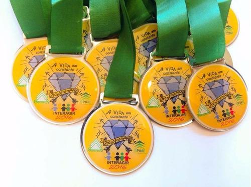medalha esportiva personalizada de metal grande 50mm x 40mm