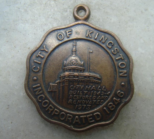 medalha inglaterra city of kingston, 33mm, ano 1973