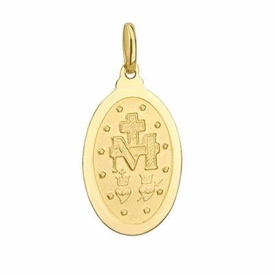 Medalha Ouro 18k 750 Nossa Senhora Das Graças-volvino F56 - R  310 ... 0b29f56233