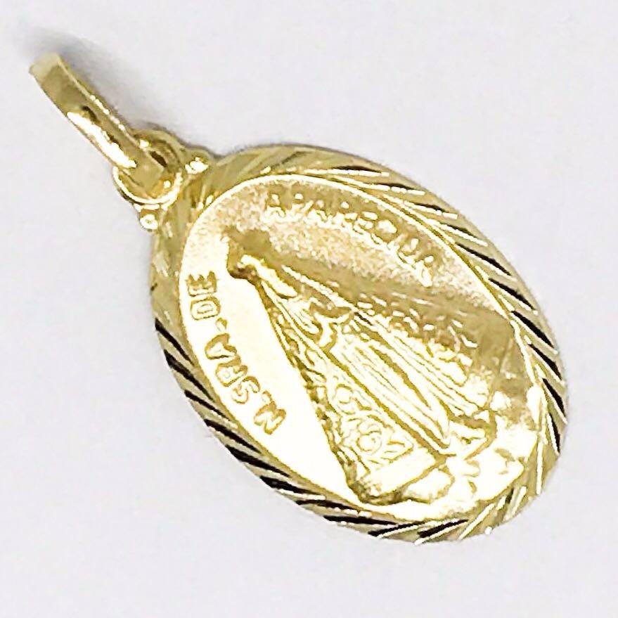30520462247dd medalha oval em ouro 18k pingente nossa senhora aparecida. Carregando zoom.