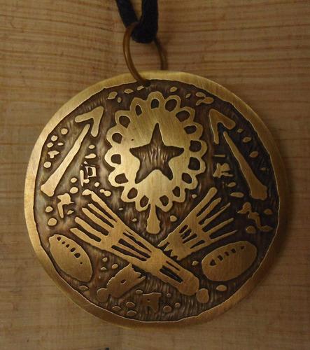 medalha oxum e omolu- obaluae