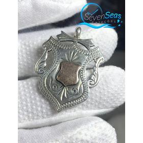 Medalha Para Corrente De Relogio De Bolso Prata E Rose 1937