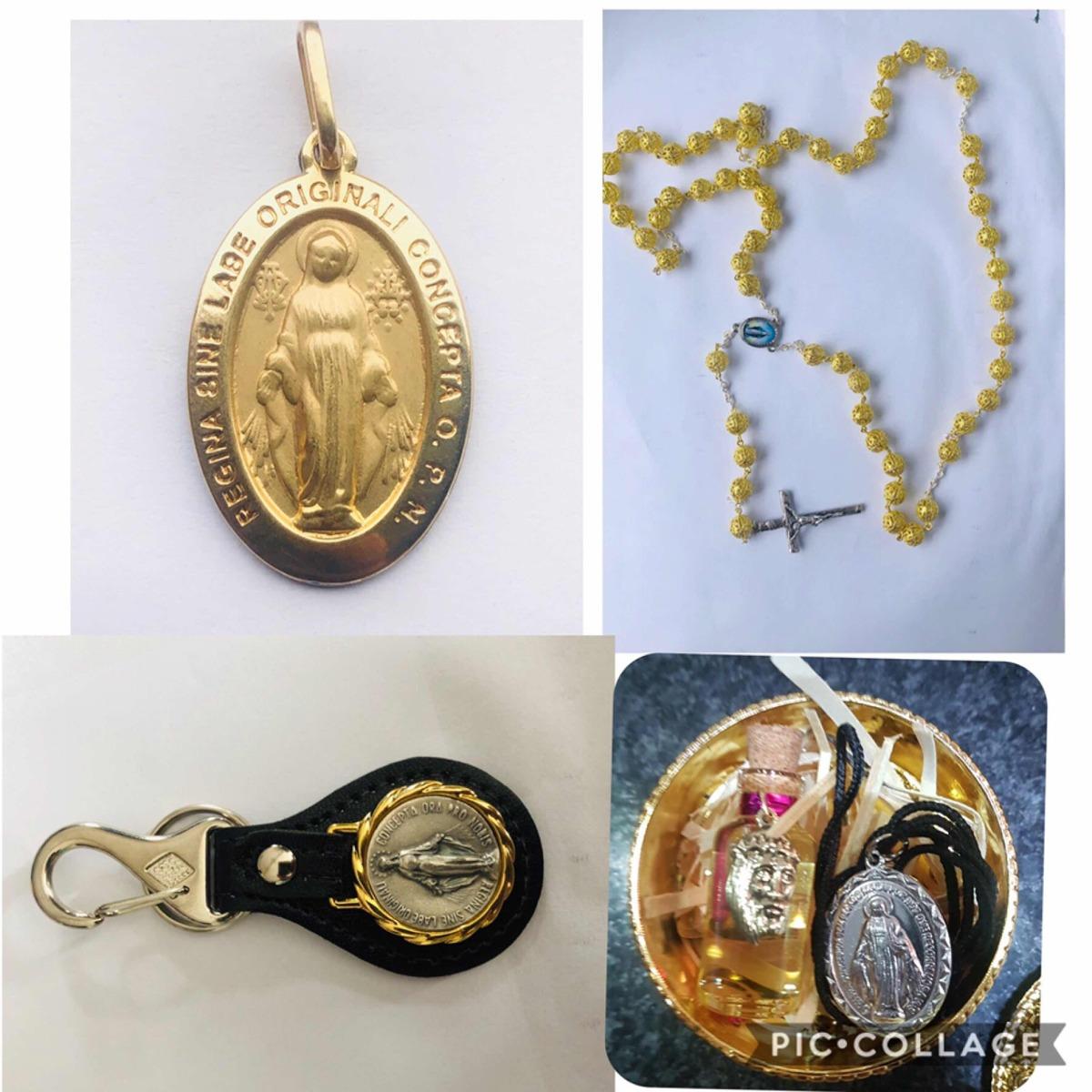 ab28038c44c47 medalha pingente nossa senhora das graças em ouro com aço. Carregando zoom.