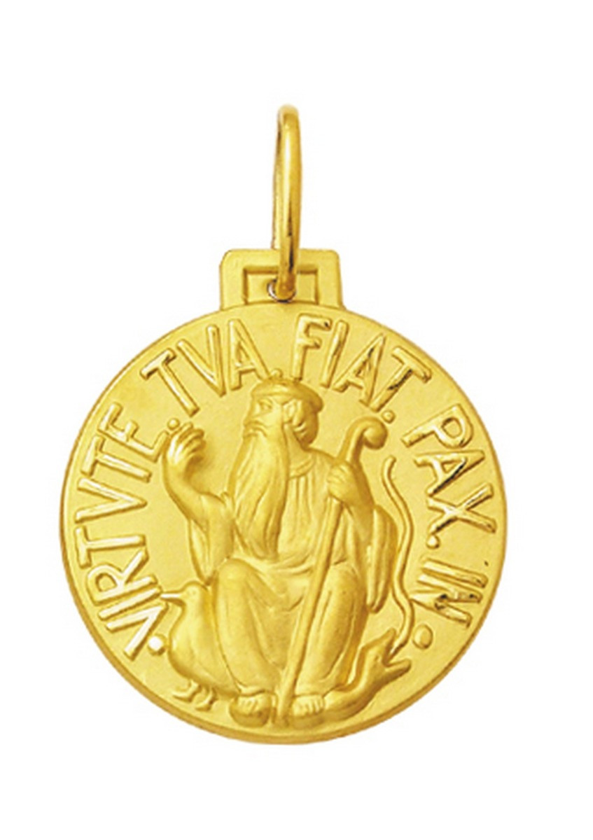 medalha pingente são bento em ouro 18k 3 cm com certificado. Carregando  zoom. 2989656a6b