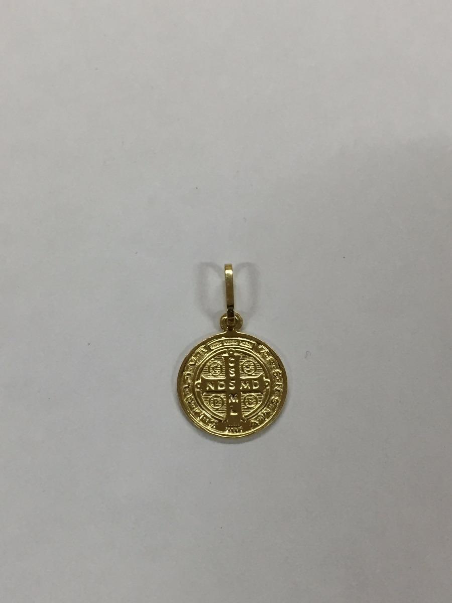 4c928b1ad7b65 Medalha Pingente São Bento Em Ouro 18k 750 - R  214,89 em Mercado Livre