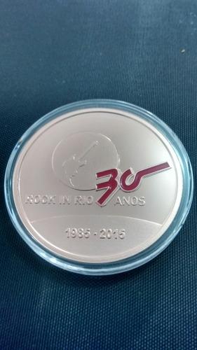 medalha prata 30 anos do rock in rio