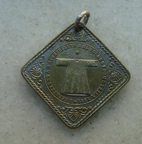 medalha santo rock, catedral de trier, tunica de jesus 1891