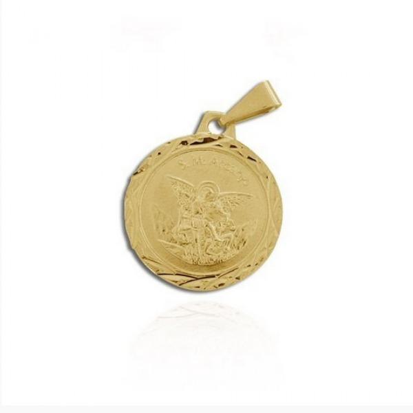 033d88e230ffe Medalha São Miguel Arcanjo Peça Folheada A Ouro - R  32,00 em ...