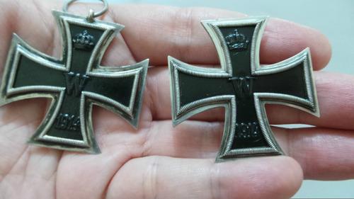 medalhas cruz de ferro de 1ª classe (prata 800) e 2ª classe