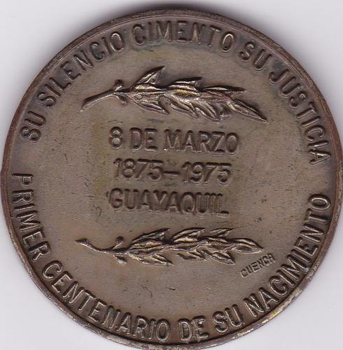 medalla 100 años de nacimiento de juan de dios martinez 1975