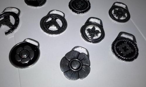 medalla 2 cms baño plata para hacer llaveros