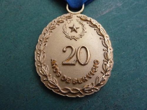 medalla 20 años fuerza aerea paraguay - vp