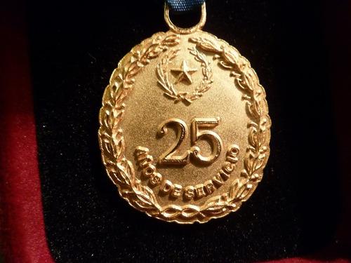 medalla 25 años ejercito paraguay sin  estuche - vp