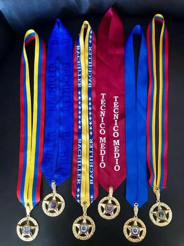 medalla 5 puntas bachiller, graduacion, premiación oferta!!!