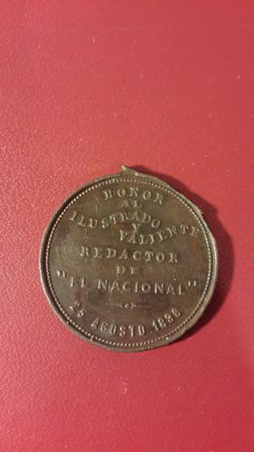 medalla acevedo diaz, el nacional 1886,  mt165