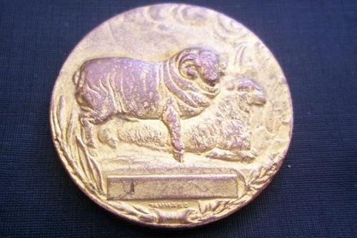medalla año 1918 reservado campeón asoc.rural del uruguay