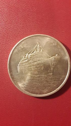 medalla barco crucero, 36 mm, fotos, mt097