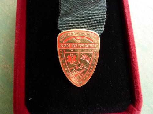 medalla bomberos san bernardo sin estuche - vp