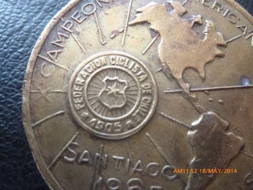 medalla campeonatos americanos  de ciclismo  1965 (ch172