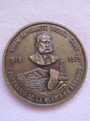 medalla centenario miguel grau.