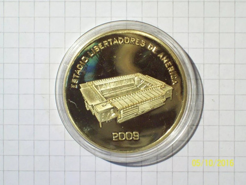 medalla club atletico independiente encapsulada flor de cuño