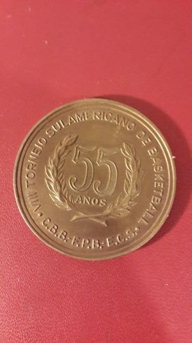 medalla clube sirio basketball brasil, 1972, 50 mm, mt133