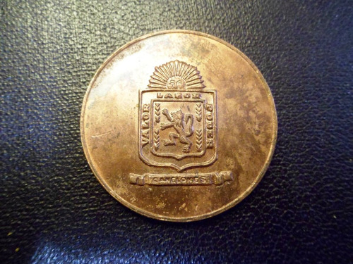 medalla cobre canelones 4 cms.