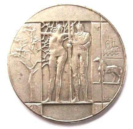 medalla conmemorativa de  400 años de fundación de baires