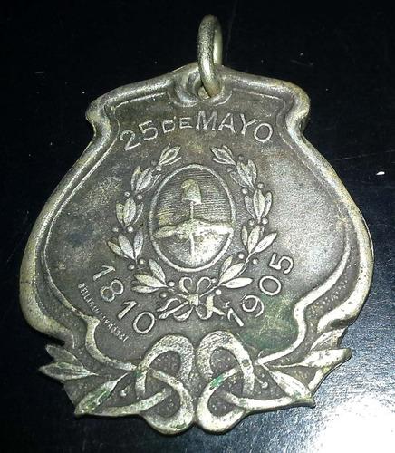 medalla de 25 de  mayo 1905 san antonio de areco