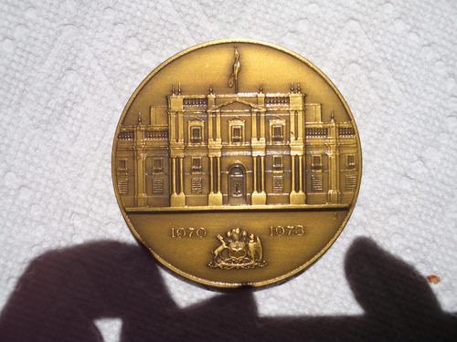 medalla de bronce salvador allende o pinochet chile