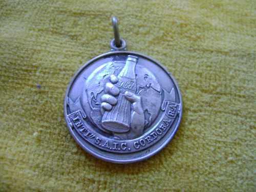 medalla de coca cola, plata 900