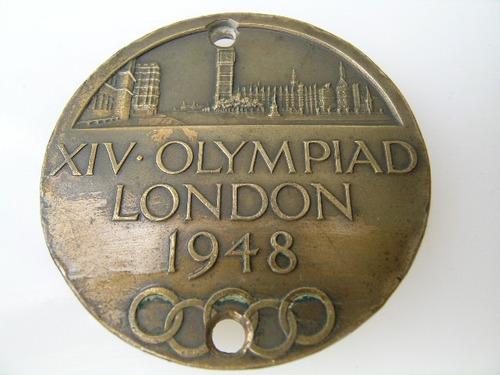 medalla de juegos olimpicos londres año 1948 autentica