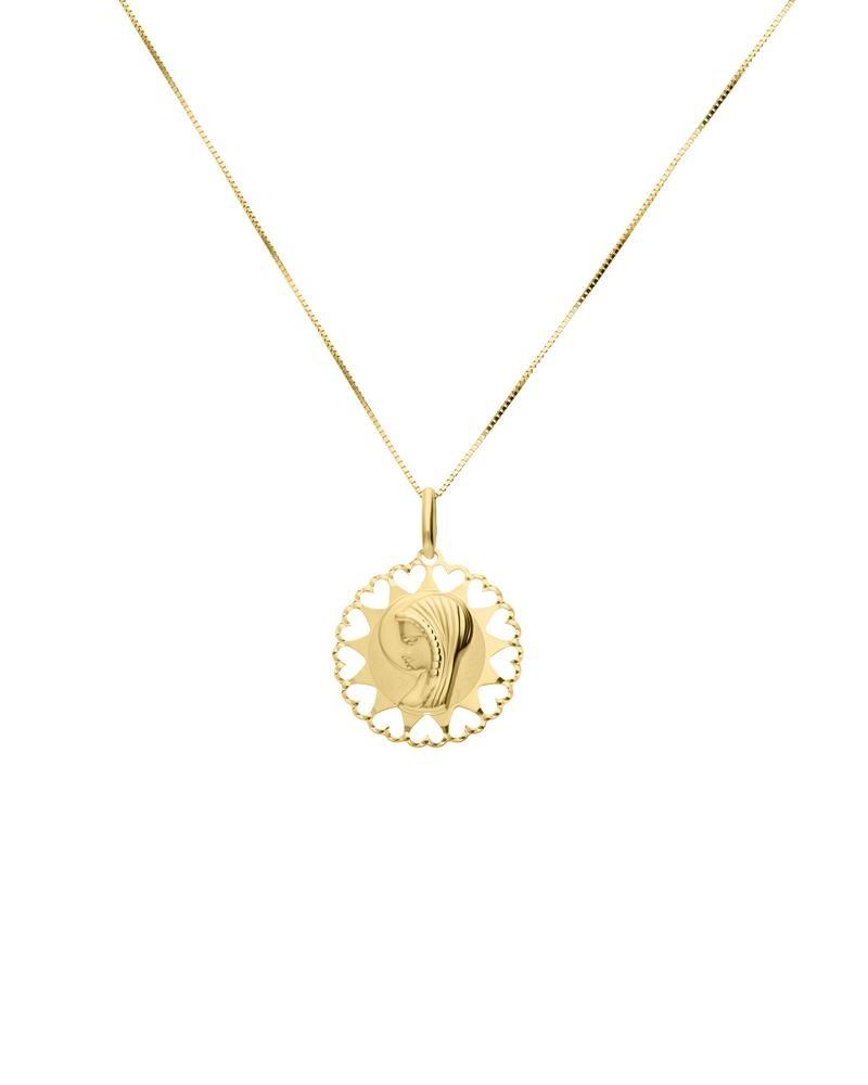 a6e751eb3c50 medalla de madona sin cadena oro amarillo 14k-152-00647y. Cargando zoom.