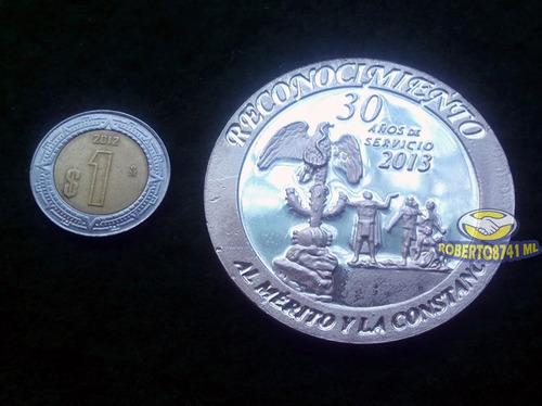 medalla de plata a 30 años de servicio gdf, ley .999 40grs