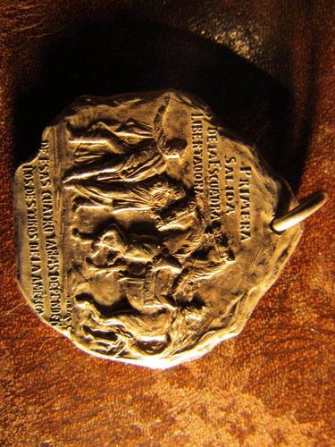 medalla de plata policia de valparaiso en centenario chile