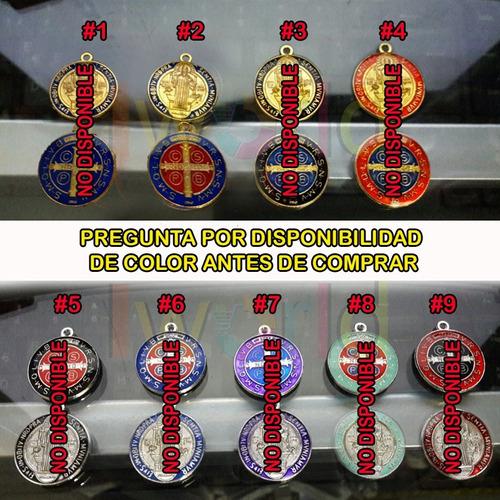 medalla de san benito baño oro o plata / poderosa contra mal