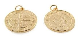 1df39a8626b8 Medalla De San Benito Chapa De Oro14k 1 Cm Bisuteria 50 Pz