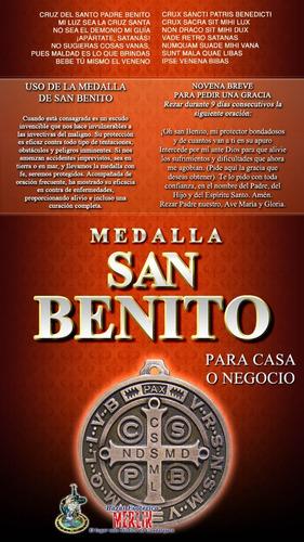medalla de san benito para casa o negocio - 12.5 cm diámetro