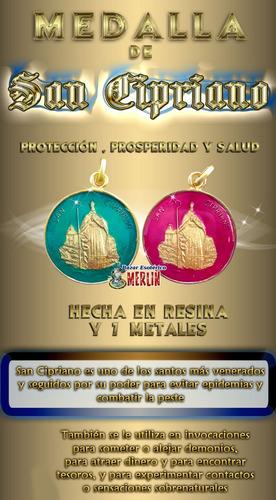 medalla de san cipriano - protección, prosperidad y salud
