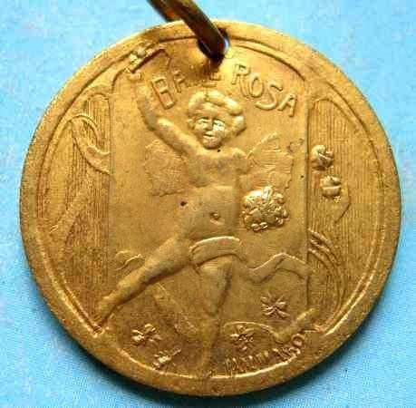 medalla del carnaval año 1911 baile rosa en el teatro soli