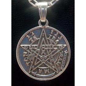 Medalla Dije Proteccion Tetragammaton  Tetragamaton Plata