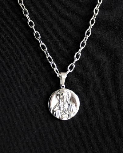 medalla dije sagrado corazón de jesús acero quirúrgico