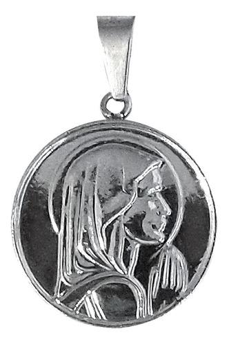 medalla dije virgen niña acero quirúrgico