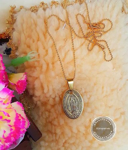 medalla dorada virgencita de guadalupe