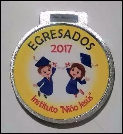 medalla egresado 2017 jardin escolar 35 mm m1